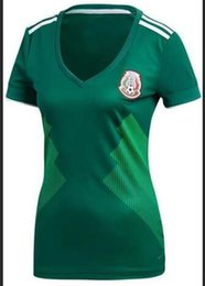 Wholesale girl s jersey for sale – custom Women s Mexico Home Away World Cup Jersey Mexico Away Red Jerseys Soccer Jersey For women Lady Girls