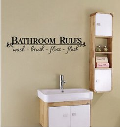 $enCountryForm.capitalKeyWord Australia - Bathroom Rules Quote Lettering Words Wall Sticker Creative Removable Bathroom Toilet Washroom Art Wall Decal Home Decoration