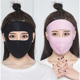 ice face mask NZ - Face Shield Face Mask Motorcycle Ice Silk Can Be Cleaned UV Protection Spring And Summer Thin Sunscreen Mask Full