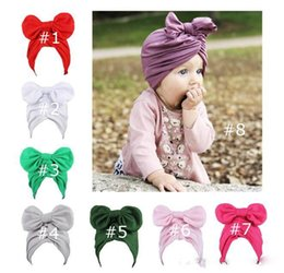 wholesale winter silks NZ - Baby Winter Hemming Cap with Bow Wrinkle Cute India Fashion El Sombrero Warm Milk Silk Hat