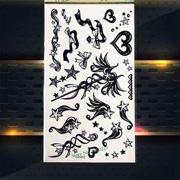 $enCountryForm.capitalKeyWord NZ - Kids Body Arm Harry Potter Magic wand Temporary Tattoo Stickers Black Tattoo Supplies Star Bowknot PGF492 Flash Tattoos Sticker