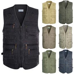 $enCountryForm.capitalKeyWord Australia - 2019 Denim Vest Mens Jacket Sleeveless Cotton Casual Waistcoat Male Jean Coat Slim Fit Outerwear Cowboy Pockets Plus Size 5XL