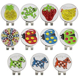 $enCountryForm.capitalKeyWord Australia - Golf Markers Cute Cartoon Design Mark Golf Ball Position Plus Magnetic Golf Hat Clips Ball Mark