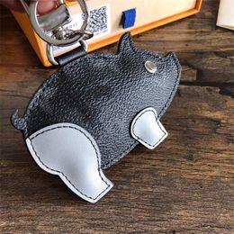 Big Keys Plastic Australia - New Year designer key chain latest design pig zodiac key chain brand car key chain handbag pendant