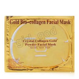Nails Mask Australia - Cheap wholesale Gold Bio-Collagen Facial Mask Face Mask Crystal Gold Powder Collagen Facial Mask Moisturizing Anti-aging 24k Gold Masks