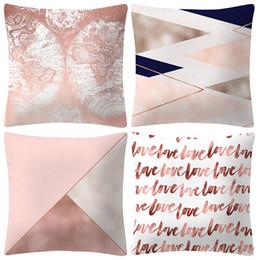 $enCountryForm.capitalKeyWord Australia - Rose Gold Pink Pillows Case Polyester Decorative Sofa Car Cushion Cover Square Pillowcase Home Decoratio Housse de coussin