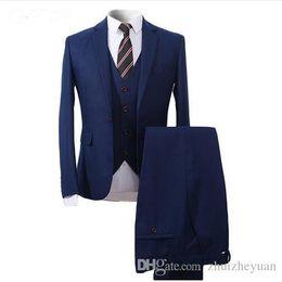 $enCountryForm.capitalKeyWord UK - Custom Made Men Suits For Wedding 3 Pieces Groomsmen Tuxedos Slim Fit Men Prom Party Business Suit (jacket+pant+vest)