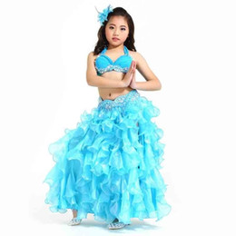 $enCountryForm.capitalKeyWord Australia - Dancing Girl Children Show Clothing Suit India Belly Dance Suit Bellydance Costume Performance Clothes Blue Gypsy Skirt Danse