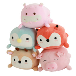 $enCountryForm.capitalKeyWord Australia - Stuffed Plush Toy Cartoon Hand Warmer Pillow Soft Pig Penguin Giraffe Hippo Doll Toy For Children Chrictmas Valentine's Day Gift