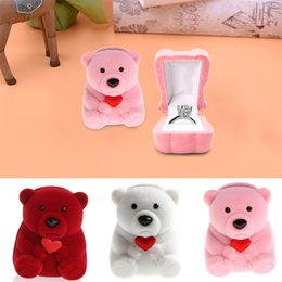 Small Necklace Box NZ - High Quality Mini Cute Bear Jewllery Gift Boxes f Rings and Small Earrings Pendant Necklace