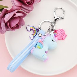 Discount small fashion doll Cartoon Accessories Kids Designer Fashion Unicorn Doll Keychain Creative Bag Pendant Small Gift Accessories for Children