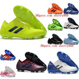 0504e28d20 2019 new mens soccer cleats Nemeziz Messi 18.1 FG soccer shoes Nemeziz 18  chaussures de football boots chuteiras de futebol orange original
