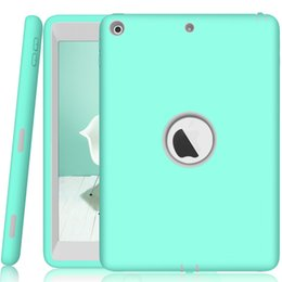 Wholesale For New Ipad Case Robot Shock Absorption Silicone High Impact Resistant Hybrid Three Layer Armor Protective Case for Ipad