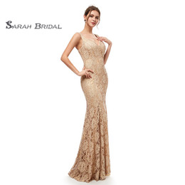 Formal Evening Gowns Pictures Australia - 2019 Real Picture Elegant Mermaid Lace Deep V-Neck Prom Dress Special Occasion Long Formal Evening Dresses Maxi Gown 5294