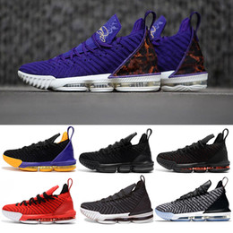 king springs Canada - 16s Men Basketball Shoes 16 King Court Purple Oreo FRESH BRED Triple black Red Grey mens trainers sports Sneaker shoes size 7-12