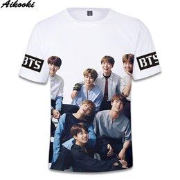 Pop Tees Australia - Summer Shirt 3D Print BTS T-Shirt Men Women Short Sleeve Hip Hop Tee BTS K-pop Mens t shirts Tops High Quality casual Clothing