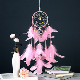 Fairy Blocks Australia - 4 Colors Dreamcatcher Wind Chimes Indian Style Feather Pendant Dream Catcher Car Hanging Decoration Girfriend gifts DHL Free Shipping