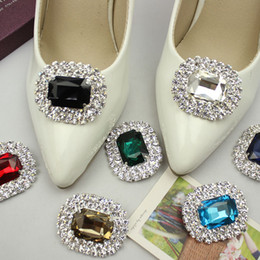 shoe crystals NZ - Crystal Shoes Accessories Clip Shoe Decoration for Party Bridal Wedding Flower Charms Women Shoes Clip Ornament