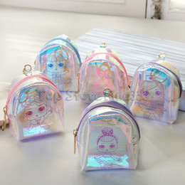 $enCountryForm.capitalKeyWord UK - LOL Purse Transparent Coin Bag Cartoon Student Coin Storage Bag Bluetooth headset candy storage box Storage Bag Kids Purse wholesale