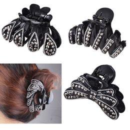 $enCountryForm.capitalKeyWord Australia - Crab Full Rhinestone Trendy Hair Claws Hairpin Hair Accessories For Woman Beauty Shiny Elastic Clamp Headwear Hair Clip