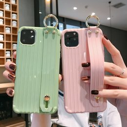 note wristband Canada - Newest 2020 Wrist Strap Phone Case For iPhone 11 Pro Max 8 7 6 6s Plus X XR XS Max Soft TPU Case Candy Color Cover With Wristband