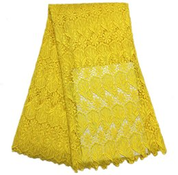 $enCountryForm.capitalKeyWord UK - J178 Free Shipping (5yards pc) 2018 Plain Yellow African Cord Lace Fabric Simple And Classical For Making Fine Party Dress