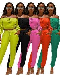 Bandaged Black leggings online shopping - Women designer piece pants fall sexy club tracksuit sweatsuit t shirt pants sports suit crop top leggings outfits bandage bodysuits