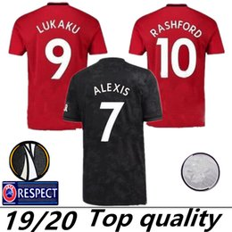 194a65008 2019 United  6 POGBA Soccer Jerseys Home Red  7 ALEXIS  9 LUKAKU 19 20 Club  Football Team Third Black Football Jersey Shir tManchester