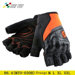 Racing glove motoR online shopping - gloves Breathable Motor Bike Cycling guantes Half Finger Leather Motorcycle Racing Reflective Anti slip Bicycle Guante moto luva