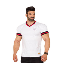 White Workout Shorts Australia - Short Sleeve T-Shirt White Gym Workout Fitness New Fashion Stylish Trendy Clothes Summer Men Sports Casual Streetwear Slim Training