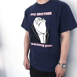 2019 Ноа футболки PIG Brother Женщины Мужчины Лучшее Качество Летнего Стиля Я слежу за тобой футболки футболки Мужские футболки NOAH
