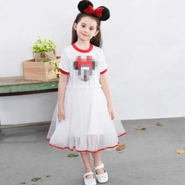 $enCountryForm.capitalKeyWord NZ - Baby Girl Summer Short sleeve white black Dress Casual Kids Dresses For Wedding Party Princess