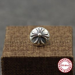 needles brooches jewelry UK - S925 sterling silver brooch personality retro style punk-style iris flower needle round cross shawl send lover's gift jewelry