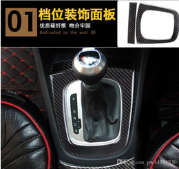 Gear Doors Australia - Dedicated to the Audi Q3 carbon fiber interior modified gear box cup holder in the control instrument table navigation frame decoration