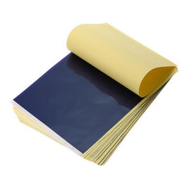 Großhandel Heißer Verkauf 25 Teile / los 4 Schicht Carbon Thermoschablone Tattoo Transferpapier Kopierpapier Transparentpapier Professionelle Tattoo Supply Zubehör