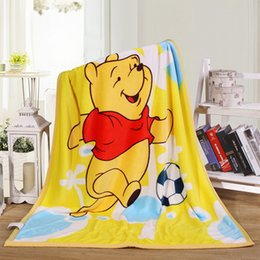 Wholesale Promotion Cartoon Baby Kids Blanket Coral Fleece Blanket On The Bed Soft Fleece Baby Bedding set Cartoon Quilt