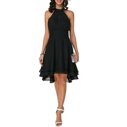 52dd5823b0bf Plus Size Evening Dresses 5xl UK - Plus Size Fashion Women Elegant Dress  Soft Halter Sleeveless
