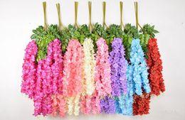 $enCountryForm.capitalKeyWord Australia - lavender lilac 1.1 Meter Thick Artificial Flowers Artificial Wisteria Vine 6 colors Decorative Bouquet Garlands for Wedding Party Home Dec.