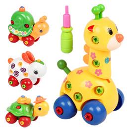 Giraffe Toys Australia - ducational toys children Kids Animal Puzzle Educational Toys Children Disassembly Assembly Cartoon Giraffe Snail Tortoise Rabbit Puzzle R...