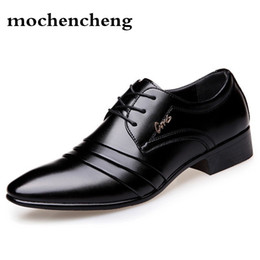 $enCountryForm.capitalKeyWord NZ - Top Quality Men oxfords Dress Shoes Fashion Lace-up Wedding Black Shoes Mens Pointed Toe formal Office Big Size