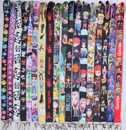 $enCountryForm.capitalKeyWord NZ - Japanese anime Naruto One Piece lanyards id badge holder ID Card Pass Gym Mobile Phone USB Badge Holder Hang Rope Lanyard key strap