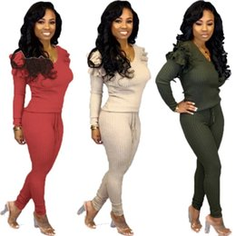 $enCountryForm.capitalKeyWord Australia - Womens Tracksuit outfits two Pieces set long sleeve designer pullover elegant hoodie Pants comfortable hot selling Women clothing klw2451