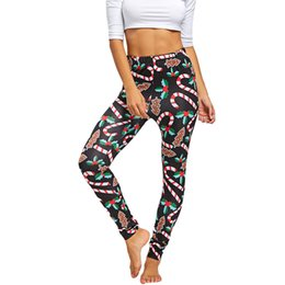 Christmas yoga pants online shopping - Women Quick Drying High Elasticity Fitness Women Christmas Print Stretched Leggings Tights Sport Yoga Athletic Pants Trousers