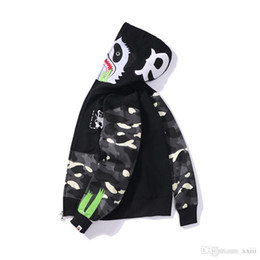 mouse clothes 2019 - 19FW Spring and Autumn New Kung Fu Panda Mouse Printed Japanese Tide Night Spot Stitching Sanitary Clothes Men and Women