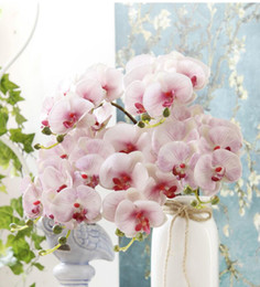 one piece displays 2019 - Computer printing 3D artificial Butterfly orchid one piece seven flowers and three fruits artificial flowers wedding dec