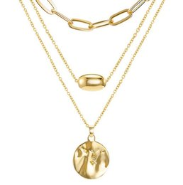 $enCountryForm.capitalKeyWord Australia - 2019 new fashion alloy copper necklace pendant European and American personality three-piece clavicle chain foreign trade hot money