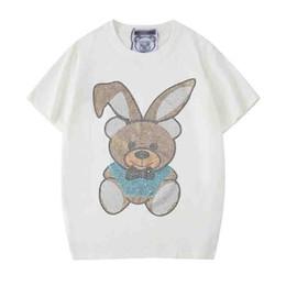 $enCountryForm.capitalKeyWord Australia - mens tshirt trendy designer mens tshirts brand new Meng rabbit bright beads printing t-shirt fashion cotton men women t-shirts tees shirt ss