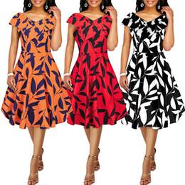 Night Suit Winter Australia - Fairy2019 Xia Spring Xinkuan European Suit-dress Cross Restore Ancient Ways Hertz Basis Wind Printing Sleeveless High Waist Chalaza Dress