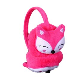 $enCountryForm.capitalKeyWord UK - Fashion Boys and Girls Winter Ear Warmer Earmuffs Cute Cartoon Fox Thickened Plush Children Ears Cover Ear Protectors Kids Muffs
