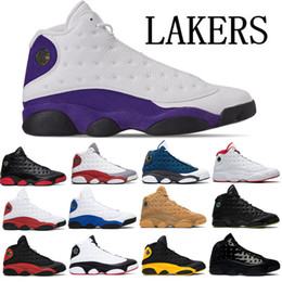 Cats elastiC band online shopping - High Quality Lakers Bred Flint Mens Basketball Shoes Cap And Gown History of Flight Phantom Chicago Hyper Black Cat Size With Box
